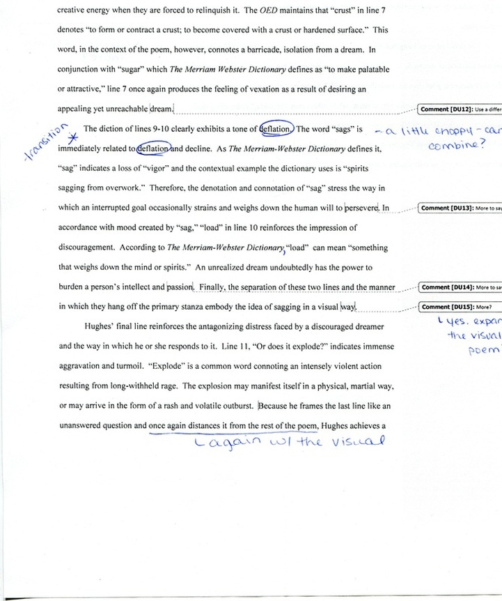 Peer Editing of Student Sample Paper Millicent Rogers Museum